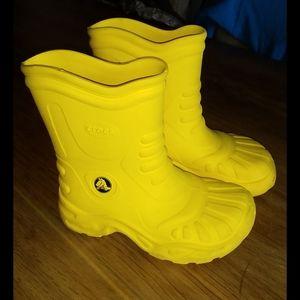 Crocs  bright yellow